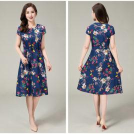 Váy ngắn tay trung niên