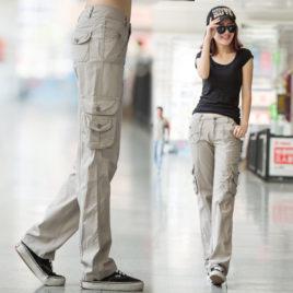 Quần kaki túi hộp nữ
