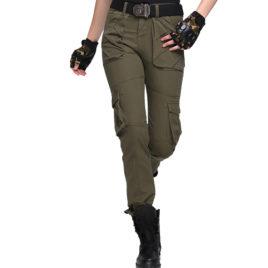 Quần túi hộp nữ kiểu lính